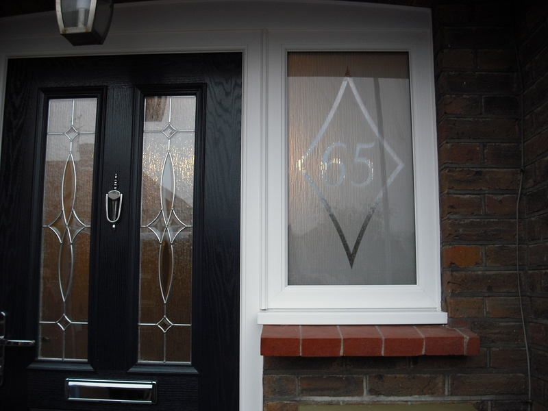 Sand blasted feature glass unit.