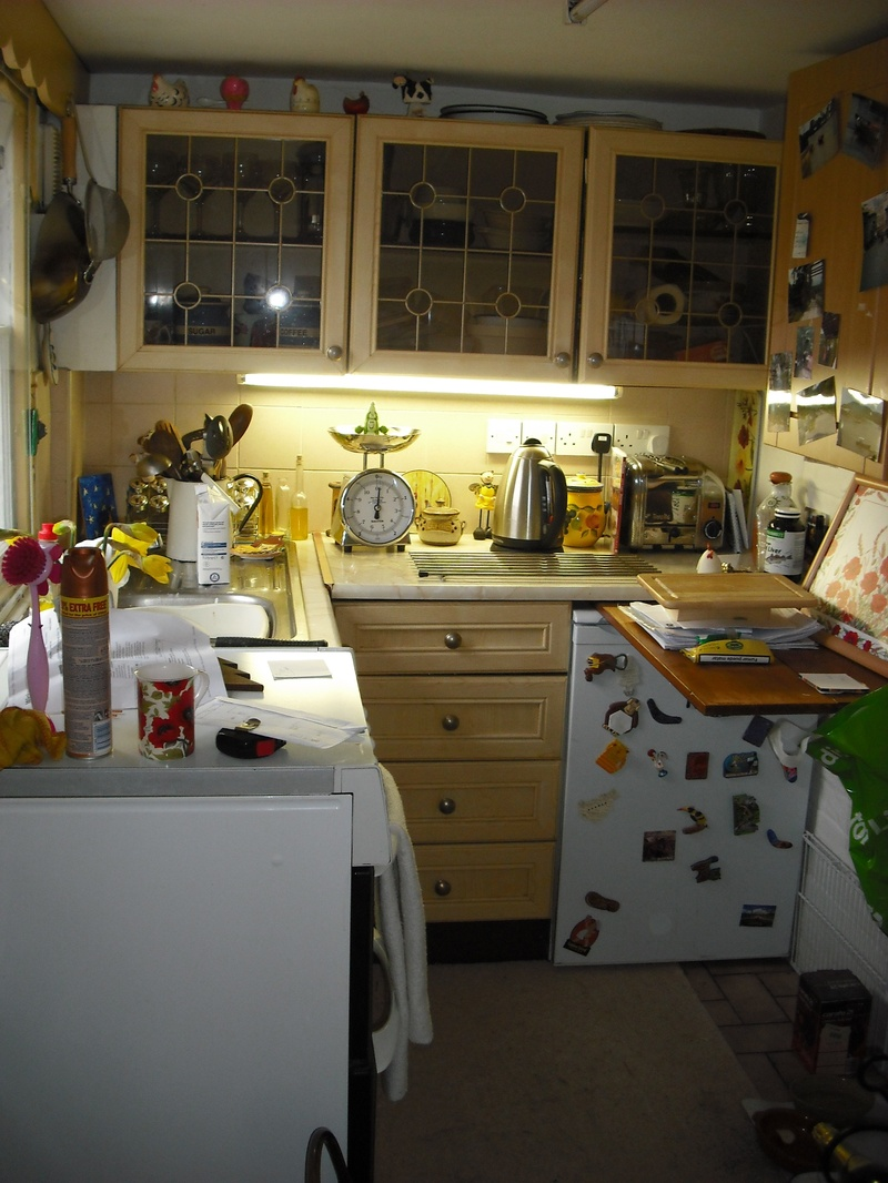 Kitchen before.