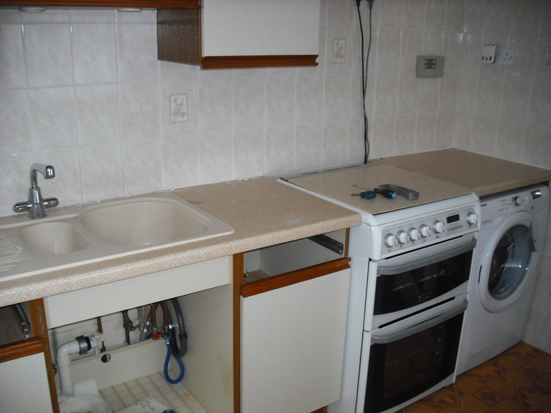 Existing top and sink.